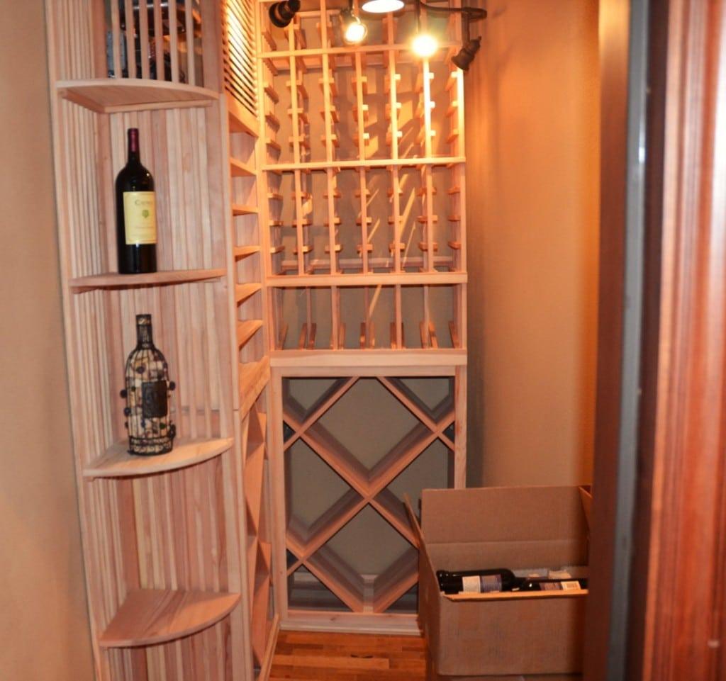 Custom Racking Home Wine Cellar San Diego