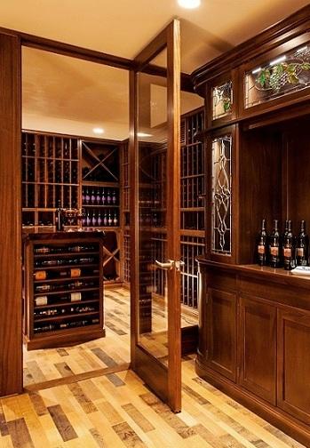 Custom Wine Cellar Glass Door San Diego Builders