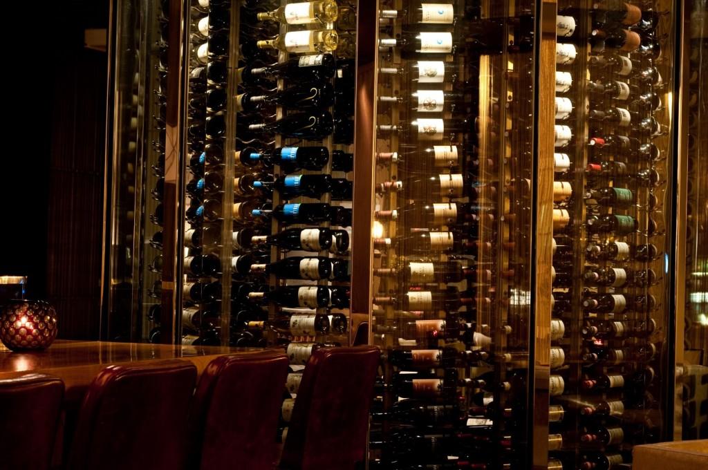 Elegant Commercial Wine Cellar Display by San Diego Builders