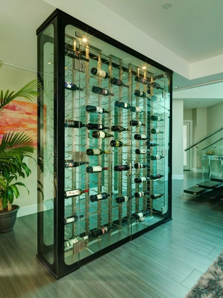 Glass Enclosed Custom Wine Cellar San Diego Project