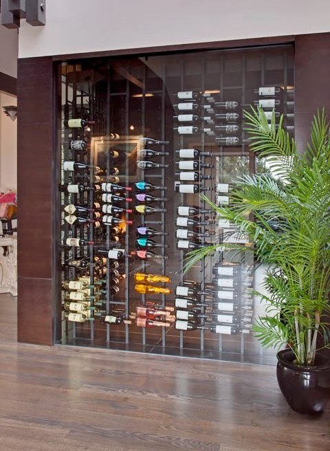 Glass Wine Cellar with VintageView Racks