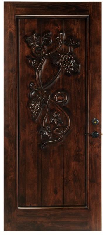 Grapevine Solid Wood Wine Cellar Door