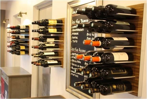 Modern Commercial-Wine Display STACT Metal Wine Racks