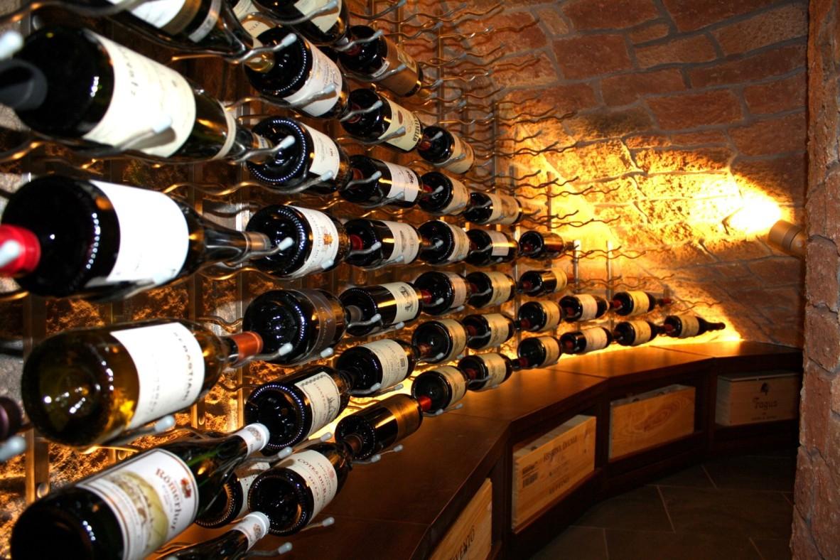 Spot Lighting for a Home Wine Cellar by Custom Wine Cellars San Diego California