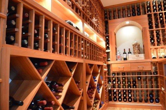 Wine Room Lighting by Custom Wine Cellars San Diego