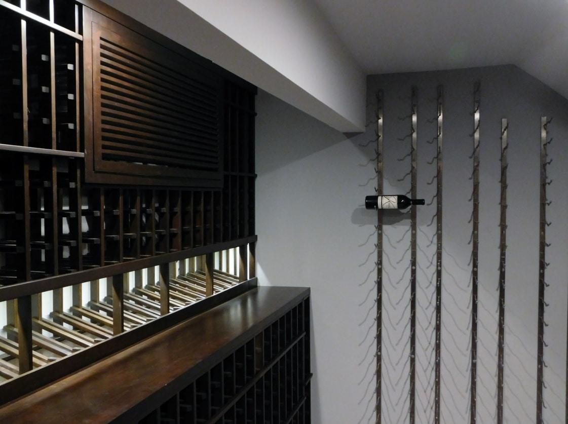 Wood and Metal Custom Wine Racks