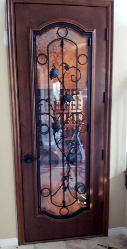 Glass Wine Cellar Doors Recommended By San Diego Builders