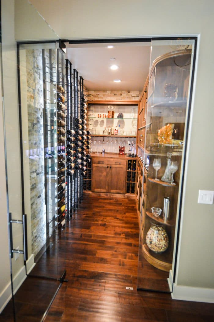 Elegant Transitional Wine Cellar In San Diego Home