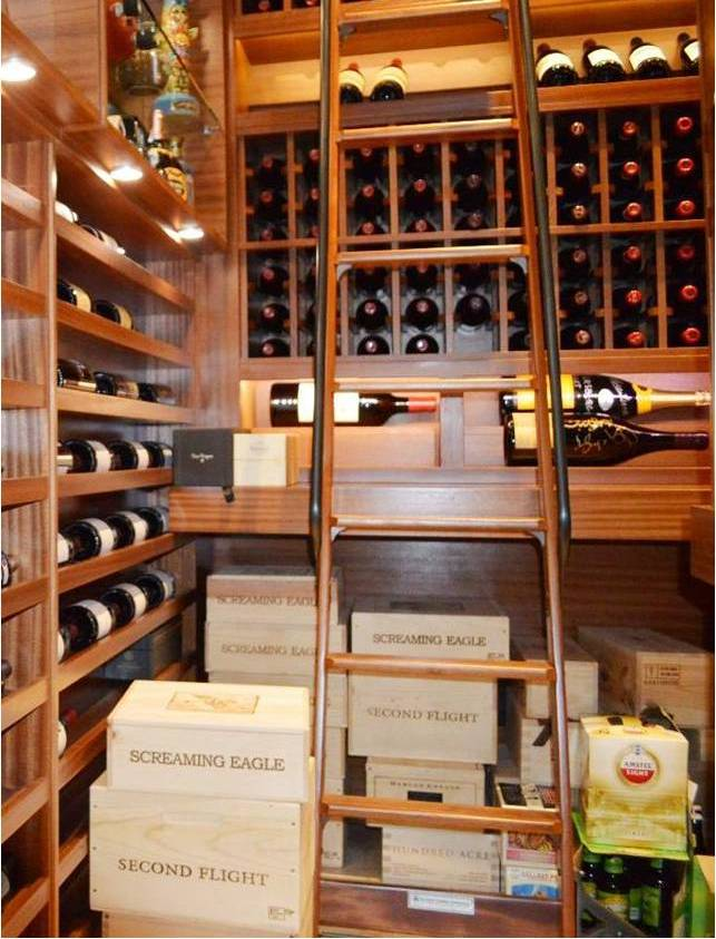 Invest in a Rolling Ladder for Your Wine Cellar in San Diego